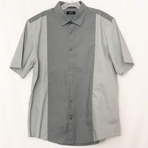 NWOT Alfani Men's Bowling Style Short Sleeve Shirt